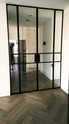Black Steel Inside Door New House Doors – Door Types Crittal Doors, Steel Doors And Windows, Window Benches, Inside Doors, House Doors, Iron Doors, Exterior Doors, Door Design, Glass Door