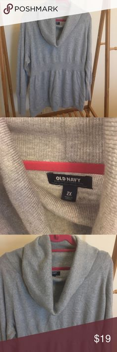 Old Navy Women's Plus Cowl Neck Sweater, 2X Old Navy Women's Plus Cowl Neck Sweater, 2X. Super flattering almost empire waist-like design. Used. Old Navy Sweaters