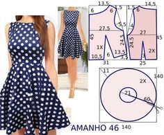 Tremendous Sewing Make Your Own Clothes Ideas. Prodigious Sewing Make Your Own Clothes Ideas. Sewing Dress, Dress Sewing Patterns, Diy Dress, Sewing Clothes, Clothing Patterns, Pattern Dress, Fashion Sewing, Diy Fashion, Costura Fashion