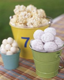 White Choc and Marshmallow Popcorn Balls from Martha Stewart