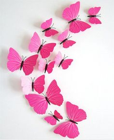 12pcs 3D Butterfly wall stickers home decor Sticker on the Art Wall decal Mural for creative vintage Home appliances kids rooms - Gifts Leads