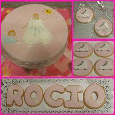 Tarta y galletas, para la Comunión de Rocio!