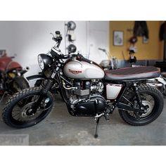 Triumph Scrambler by Spirit of the 70s. #moto #motorrad #hot #motorcycle #love #motorcycles #awesome #bike #bikestagram #bikeswithoutlimits #scrambler #caferacer #bobber #triumph #Padgram