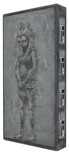Concept art of Ahsoka Tano encased in carbonite, created for The Clone Wars episode The Citadel (3.14).