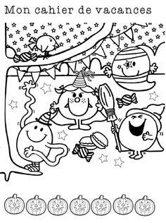 Cahier sur le thème d'halloween pour les vacances ou pour les derniers jours de la période... français et mathématiques pour des révisions CP, CE1, CE2 Maths Halloween, Chat Halloween, Theme Halloween, Halloween Crafts For Kids, Halloween 2018, Halloween Costumes, Pattern Coloring Pages, Colouring Pages, Halloween Coloring Sheets