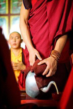Serving Tea In Tibet