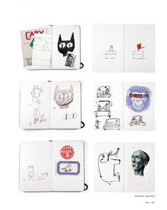 ARTY China 2-2013 LR.Serge Bloch Serge Bloch, Sketchbook Ideas, Inspiring Art, Sketchbooks, Zine, Cali, Illustration Art, Archive, Packing