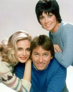 Priscilla Barnes, John Ritter, Top Tv Shows, Suzanne Somers, Classic Comedies, Vintage Television, Three's Company, Vintage Hollywood, Vintage Tv
