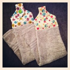 Just For Daisy:: Handmade: Fabric Hanging Hand Towels!  Easy to make instead of those pretty crocheted numbers! These will be straight on your #handmade #gifts list!