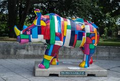 Elephant Parade, Elephant Art, Marwell Zoo, Balloon Dog Sculpture, Painted Horses, Rhinos, Southampton, Public Art, Animal Paintings