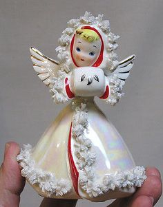 Vintage Christmas Gorgeous NORCREST Angel Opalescent Gown First I've Seen This!