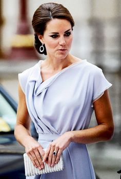 Kate Middleton. Dress and hair do.