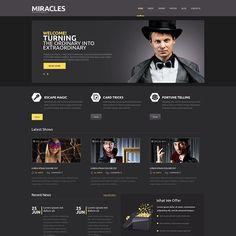 Entertainmnet Responsive WordPress Vorlage Kleiner Screenshot