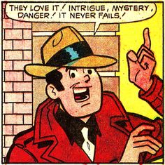 I've seen Jughead (on several occasions!), Archie, Betty, even Dilton play P.I. before, but I think this is a first for Reggie. Laugh Comics #266, May 1973