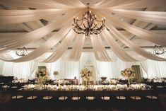 Hanging lighting for wedding recption | Create a dramatic look to the center of the reception hall. Hope your ...