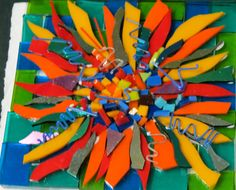 wild flower no. 3 ready for glass fusing ,, by kat gottke