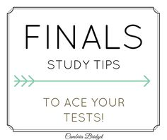 Finals Study Tips | Tips for Acing Tests and Success in College