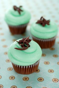 In search of the perfect mint chocolate cupcake.