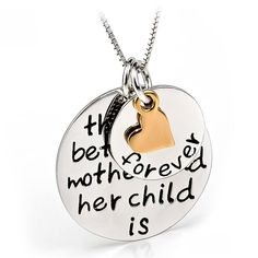 """Genuine 925 Sterling Silver Three Tone Necklace Fine Jewelry Mother Child Love Necklace 18"""""""
