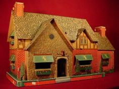 226 best cardboard doll houses images on pinterest in 2018 4 h Old Doll Houses incredible vintage cardboard doll house 1940s built rite