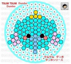 tsum tsum perler bead template dumbo