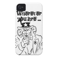 #Uncle #Sam #lauscht #iPhone 4 #Cover by #pASob at #zazzle.com 39,95 € pro #Hülle