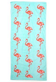 Flamingo Beach Towel   FOREVER 21 - 1000085031