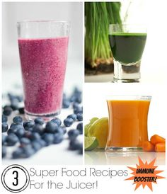 3 Immune Booster Superfood Recipes For The Juicer!