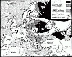 Dit waren de landen die meededen aan de koude oorlog.