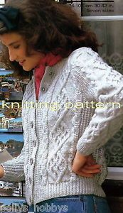 Free Aran Knitting Patterns - Las Cable Sweater, Baby's Hoo