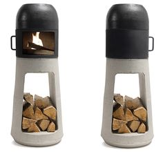 The comfort of a wood stove in a clever compact format by Wuehl Yanes.  This is a dream come true.  I think we need one of these in our apartment.