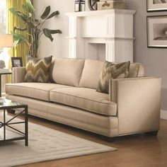 Merveilleux Coaster Rosario Sofa With Shelter Style Arms   Coaster Fine Furniture