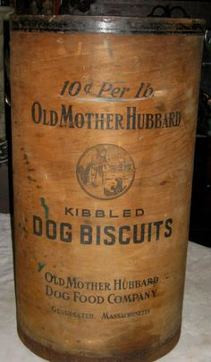 Antique Mother Hubbard Dog Biscuit Store Display Wood Bin Barrel Art Holder Can   eBay