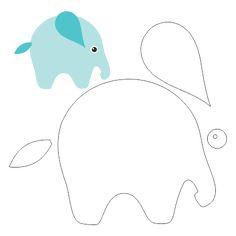 Molde Elefante Para Feltro EVA e Outros