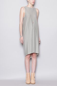 Black Crane Gather Dress (Sage)