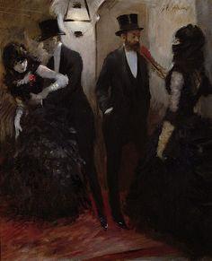 The corridors at the Opera - Jean Louis Forain