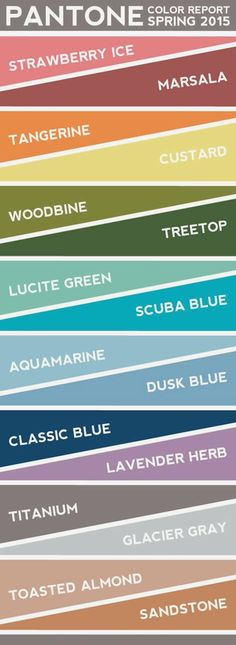 pantone color report: spring 2015 // graphic by long distance loving