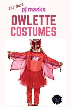 PJ Masks Owlette costumes for kids. Is your toddler a PJ Mask fan? Check out this list of the best Owlette costumes. She's out to save the world with her other heroic friends. Kids Costumes Girls, Toddler Costumes, Family Halloween Costumes, Halloween Gifts, Halloween Pajamas, Disney Halloween, Halloween 2019, Halloween Stuff, Spooky Halloween