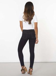 Womens Indigo Authentic 'Bailey' Super Stretch Skinny Jeans- Blue