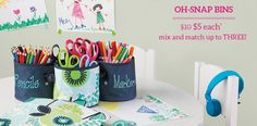 Oh-Snap Bins. Want in Bubble Bloom for the girls desk organizer :) Thirty One Bags, Thirty One Gifts, Classroom Solutions, Girl Desk, Thirty One Consultant, 31 Bags, Facebook Party, Embroidery Monogram, Teacher Appreciation Gifts
