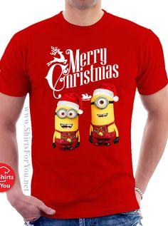 07a92306a2e Christmas  Minions  -  Mens  T-shirt Minion Christmas