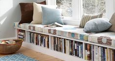 Because living in a small space doesn't mean you can't have ALL THE BOOKS.