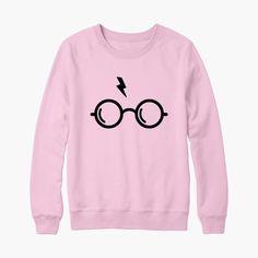 ffda7bf8c Sweat harry potter lunettes et éclair de foudre - bichette.co Moletom Do Harry  Potter
