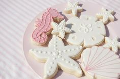 Celebrating a Beachy Birthday Party - cutout sugar cookies.