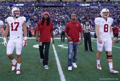 All-Pro cornerback Richard Sherman and wide receiver Doug Baldwin spent the Saturday of their bye week being honorary captains for Stanford's game against the Huskies in Seattle.