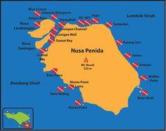 Dive sites in Nusa Penida (Bali) #Indonesia