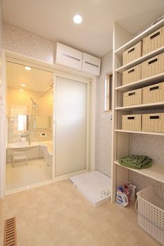 Washroom Design, Bath Design, Japanese Style Bathroom, Minimalist Office, House Layouts, Home And Deco, Closet Storage, Bathroom Styling, House Rooms