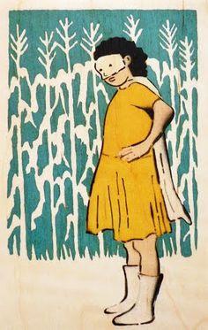 amy rice, Minnesota artist, stencil/spray and hand work.