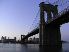 Brooklyn Bridge, The oldest bridge in New York.