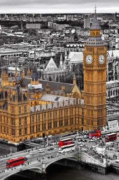 Big Ben and red buses, London, England by MaxShutterSpeed England Ireland, London England, Travel Around The World, Around The Worlds, Eiffel Tower Photography, Big Ben London, Red Bus, London Calling, London Travel